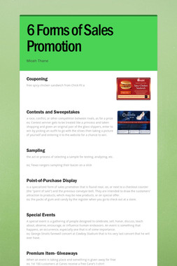 6 Forms of Sales Promotion