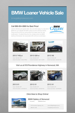 BMW Loaner Vehicle Sale