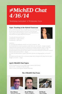 #MichED Chat 4/16/14