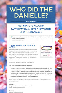 WHO DID THE DANIELLE?