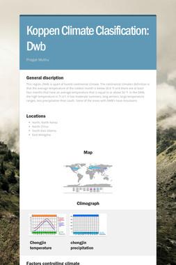 Koppen Climate Clasification: Dwb