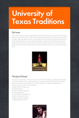 University of Texas Traditions