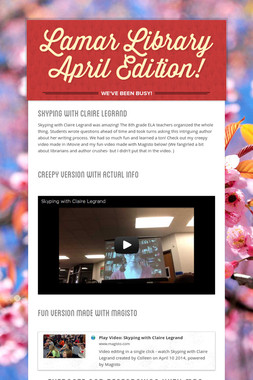 Lamar Library April Edition!