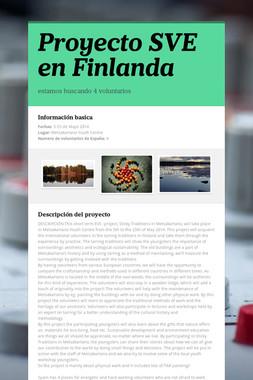 Proyecto SVE en Finlanda