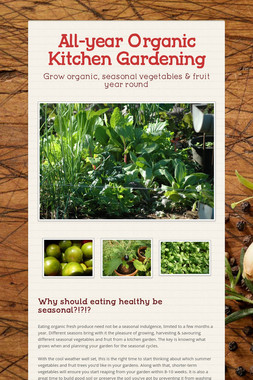 All-year Organic Kitchen Gardening