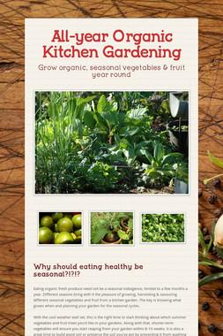 All-year Organic Kitchen Gardening