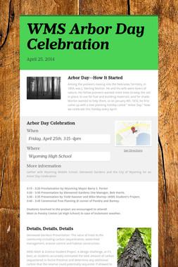 WMS Arbor Day Celebration