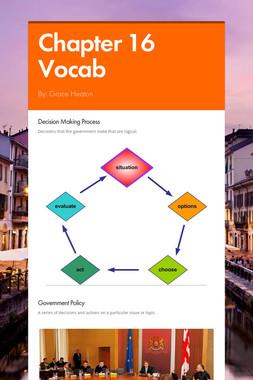 Chapter 16 Vocab