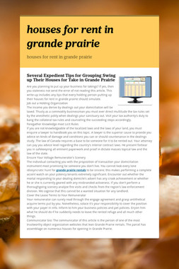 houses for rent in grande prairie