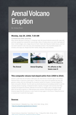Arenal Volcano Eruption