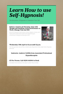 Learn How to use Self-Hypnosis!
