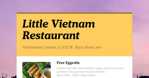 Little Vietnam Restaurant