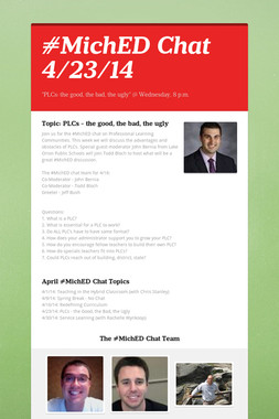 #MichED Chat 4/23/14