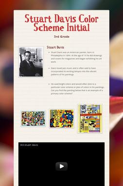 Stuart Davis Color Scheme Initial