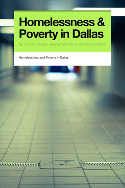 Homelessness & Poverty in Dallas