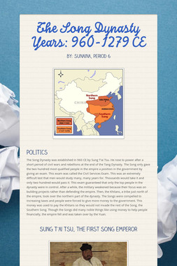 The Song Dynasty Years: 960-1279 CE