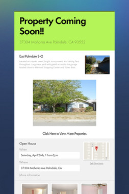 Property Coming Soon!!