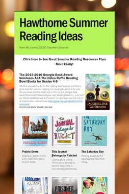 Hawthorne Summer Reading Ideas