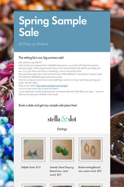 Spring Sample Sale