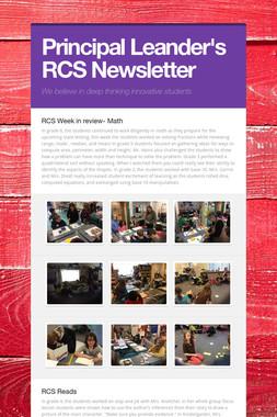 Principal Leander's RCS Newsletter