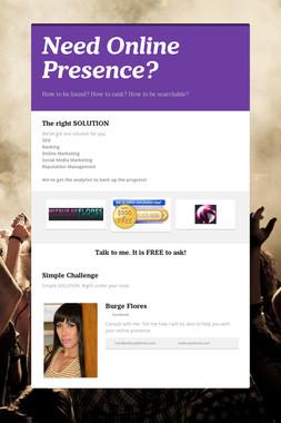 Need Online Presence?