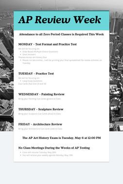AP Review Week