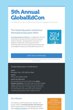 5th Annual GlobalEdCon