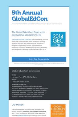 5th Annual GlobalEdCon