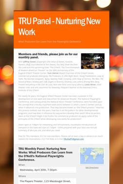 TRU Panel - Nurturing New Work