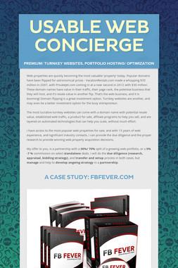 Usable Web Concierge