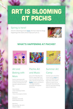 Art is blooming at Pachis