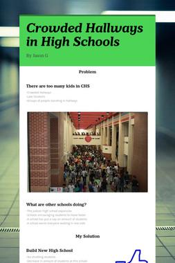 Crowded Hallways in High Schools