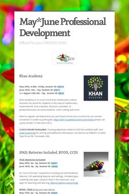 May*June Professional Development