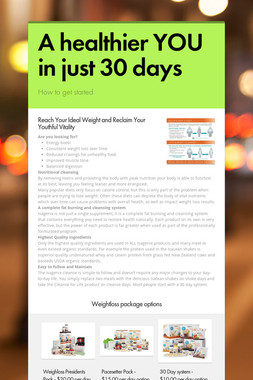 A healthier YOU in just 30 days