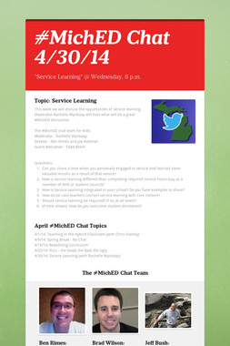 #MichED Chat 4/30/14