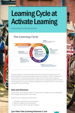 Learning Cycle at Activate Learning
