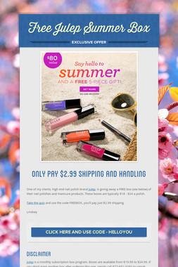 Free  Julep Summer Box