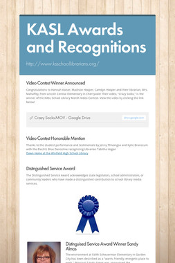 KASL Awards and Recognitions