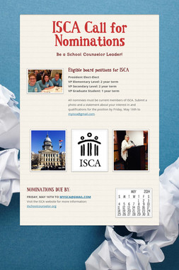 ISCA Call for Nominations