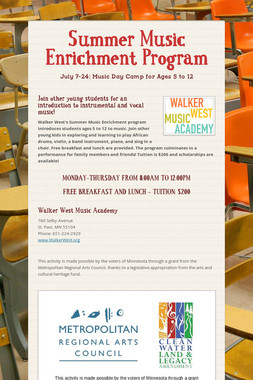 Summer Music Enrichment Program