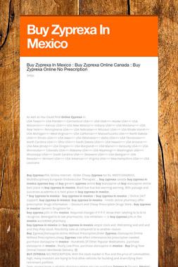 Buy Zyprexa In Mexico