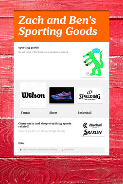 Zach and Ben's Sporting Goods