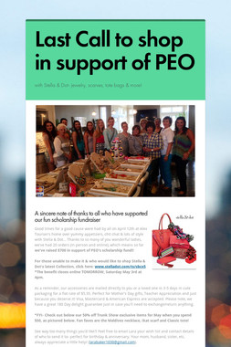 Last Call to shop in support of PEO