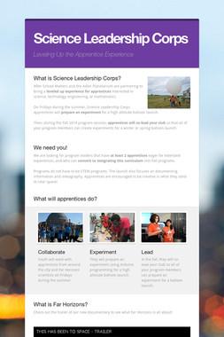 Science Leadership Corps