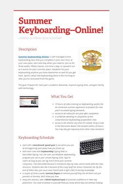 Summer Keyboarding--Online!