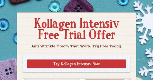 Kollagen Intensiv Free Trial Offer | Smore