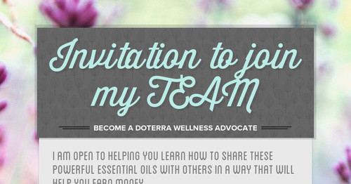 Invitation to join my TEAM Smore Newsletters