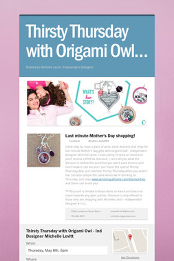 Thirsty Thursday with Origami Owl…