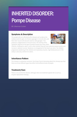 INHERITED DISORDER: Pompe Disease