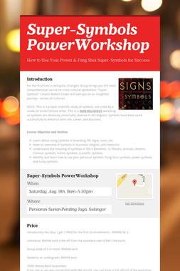 Super-Symbols PowerWorkshop